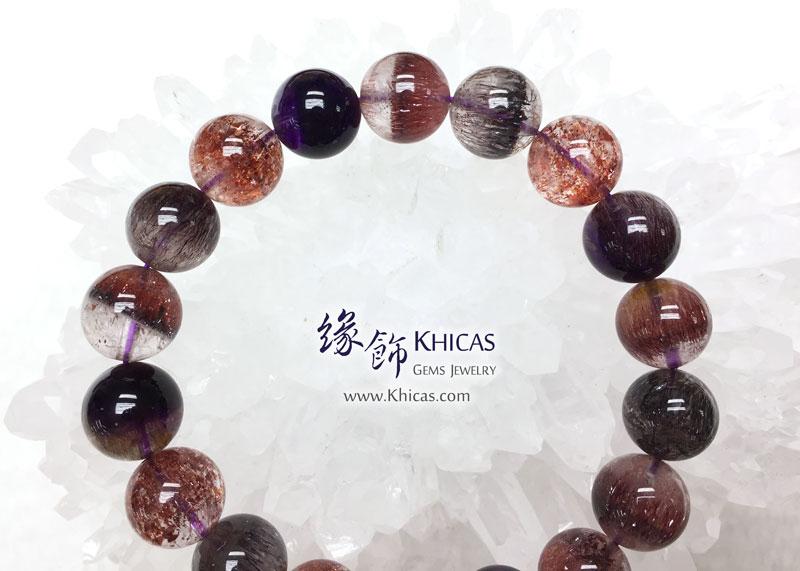 巴西 5A+ 頂級超級七 / 三輪骨幹 / Super7 手串 11.6mm+/- KH143050 @ Khicas Gems 緣飾