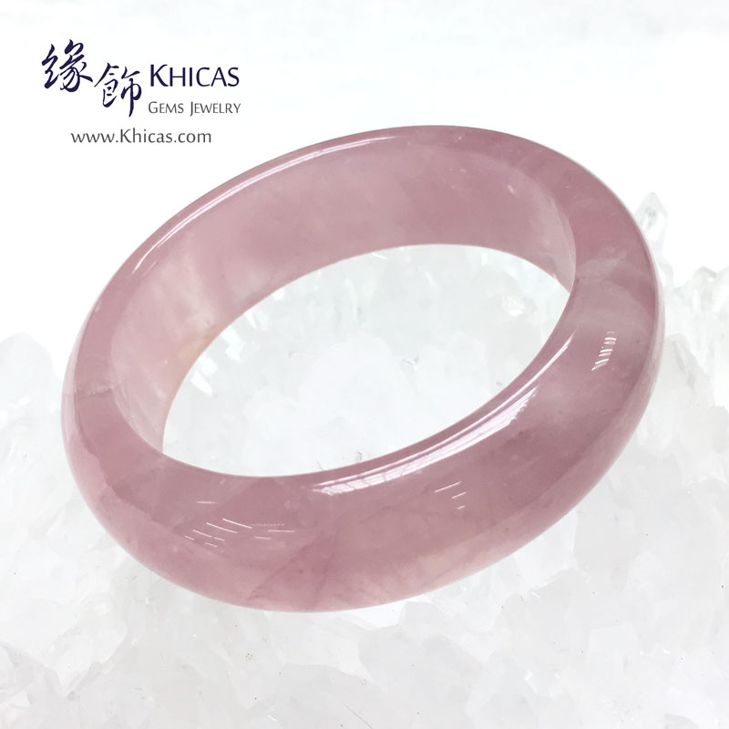 馬達加斯加 3A+ 粉晶手鐲(內徑 ⌀55mm / 1.45) KH143053 @ Khicas Gems 緣飾天然水晶