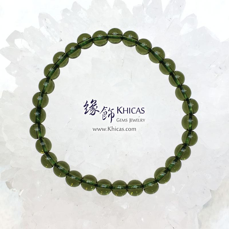 捷克綠隕石手串 6.2mm+/- Moldavite Bracelet KH143060 @ Khicas Gems 緣飾天然水晶