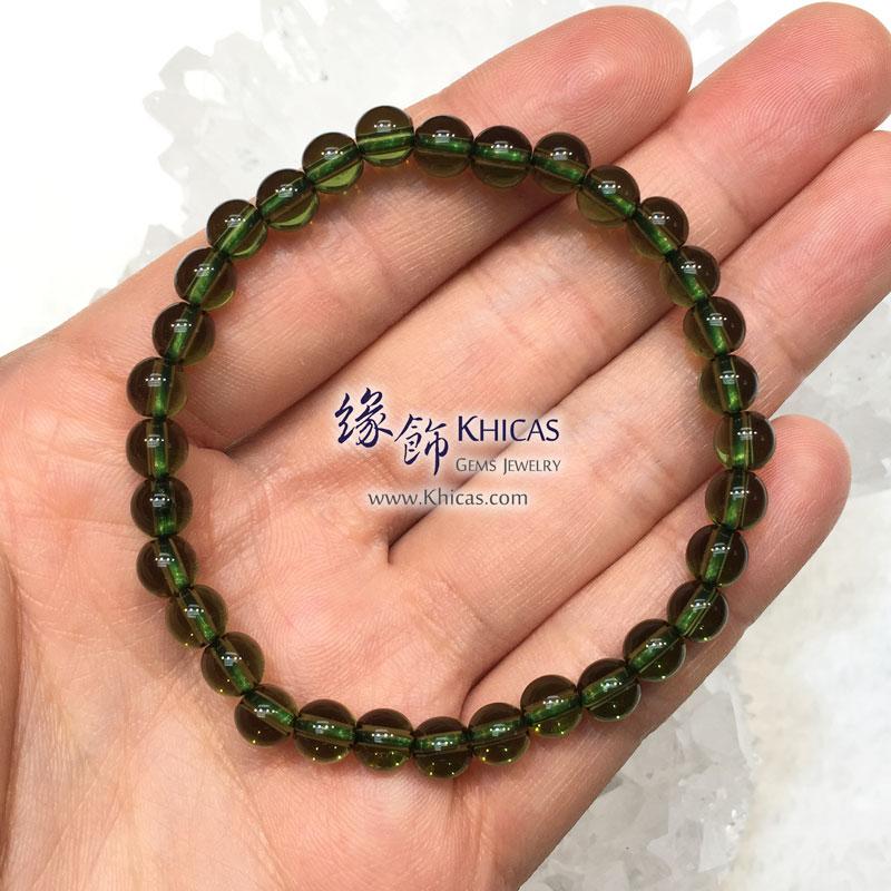 捷克綠隕石手串 6.2mm+/- Moldavite Bracelet KH143061 @ Khicas Gems 緣飾天然水晶