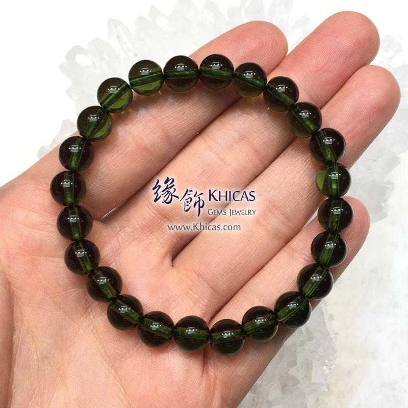 捷克綠隕石手串 8.4mm+/- Moldavite Bracelet KH143063 @ Khicas Gems 緣飾天然水晶