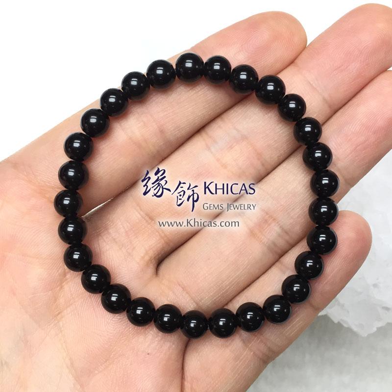 泰國 4A+ 黑隕石手串 6mm Tektite bracelet KH143097 @ Khicas Gems 緣飾