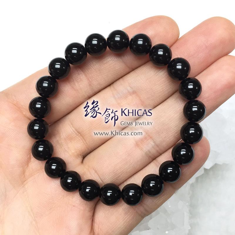 泰國 4A+ 黑隕石手串 8mm Tektite bracelet KH143098 @ Khicas Gems 緣飾