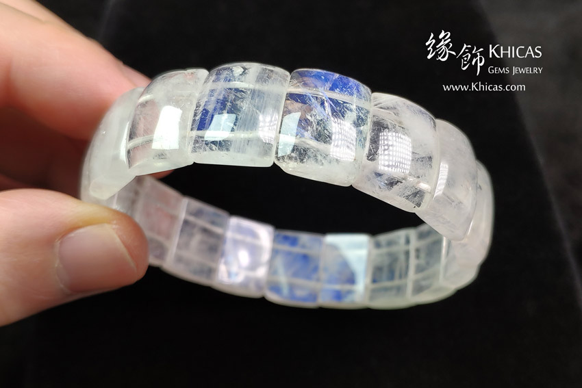 巴西 5A+ 月亮石手排 13.5x10x5mm MoonStone Bracelet KH143130 @ Khicas Gems Jewelry 緣飾天然水晶