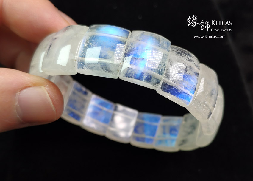 巴西 5A+ 月亮石手排 14x11.5x5mm MoonStone Bracelet KH143132 @ Khicas Gems Jewelry 緣飾天然水晶