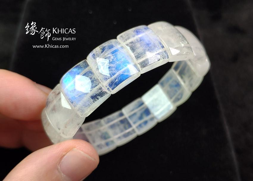 巴西 5A+ 月亮石手排 14x11.5x5mm MoonStone Bracelet KH143132 @ Khicas Gems Jewelry 緣飾天然水晶