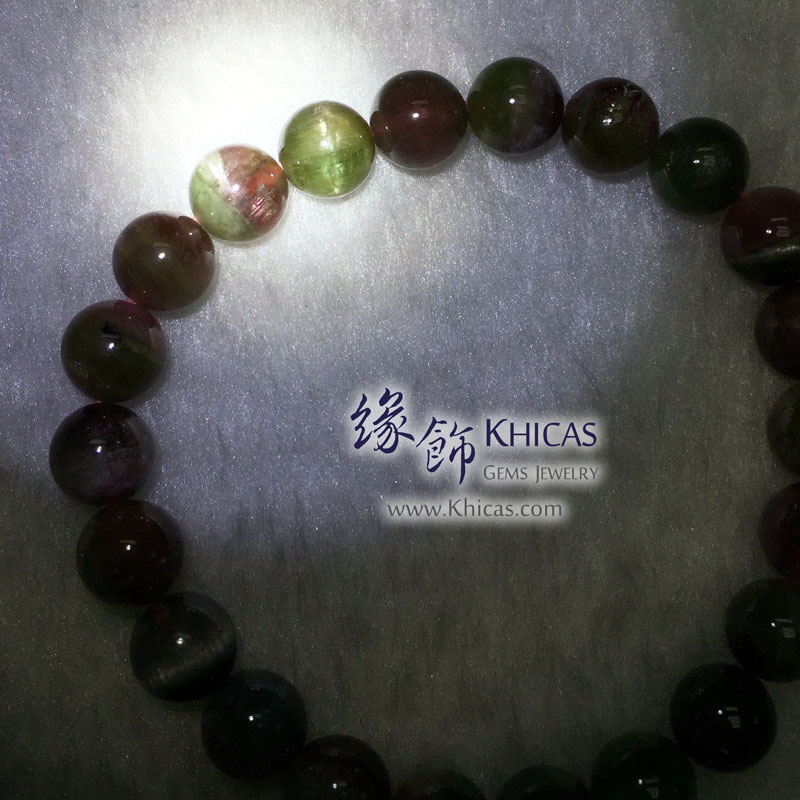 巴西 5A+ 西瓜碧璽手串 8.3mm Watermelon Tourmaline KH143171 @ Khicas Gems 緣飾