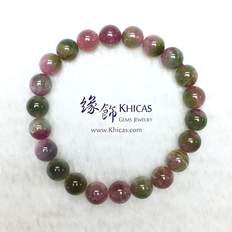 巴西 5A+ 西瓜碧璽手串 8.5mm Watermelon Tourmaline KH143172 @ Khicas Gems 緣飾