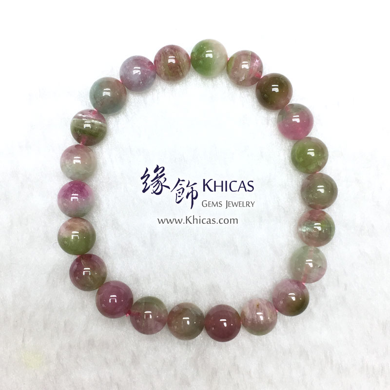 巴西 5A+ 西瓜碧璽手串 8.5mm Watermelon Tourmaline KH143173 @ Khicas Gems 緣飾