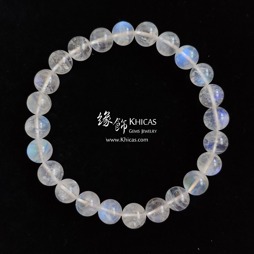 巴西 5A+ 月亮石手串 8.3mm MoonStone Bracelet KH143210 @ Khicas Gems Jewelry 緣飾天然水晶
