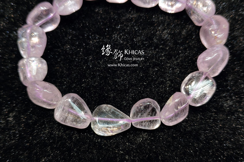 巴西 5A+ 紫鋰輝石不定形手串 ~11mm Kunzite Bracelet KH143252 @ Khicas Gems Jewelry 緣飾天然水晶