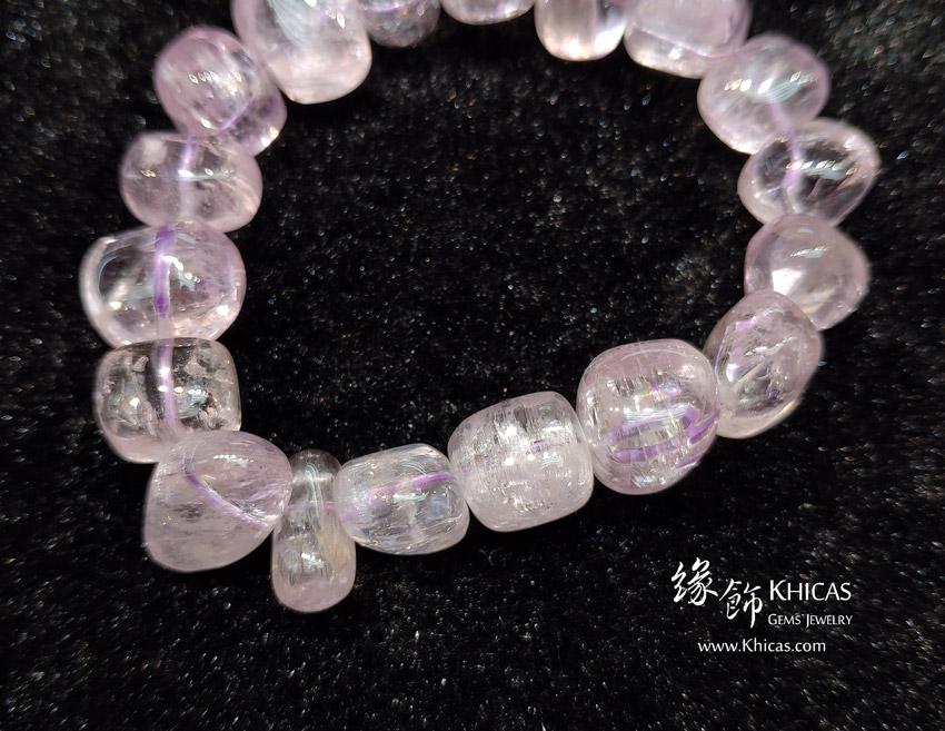 巴西 5A+ 紫鋰輝石不定形手串 ~13.5mm Kunzite Bracelet KH143254 @ Khicas Gems Jewelry 緣飾天然水晶