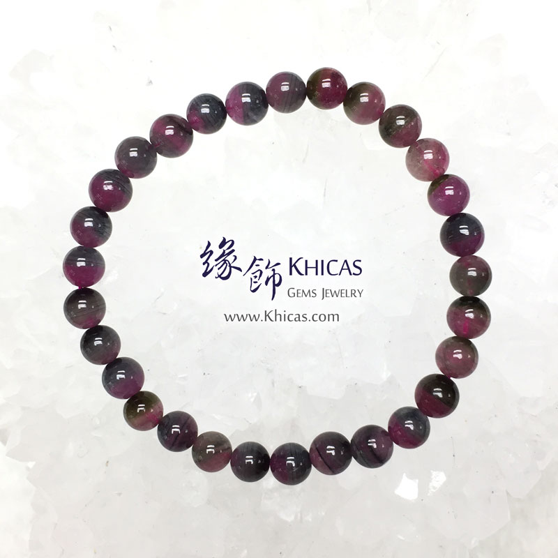 巴西 4A+ 西瓜碧璽手串 6.3mm Watermelon Tourmaline KH143466 @ Khicas Gems 緣飾