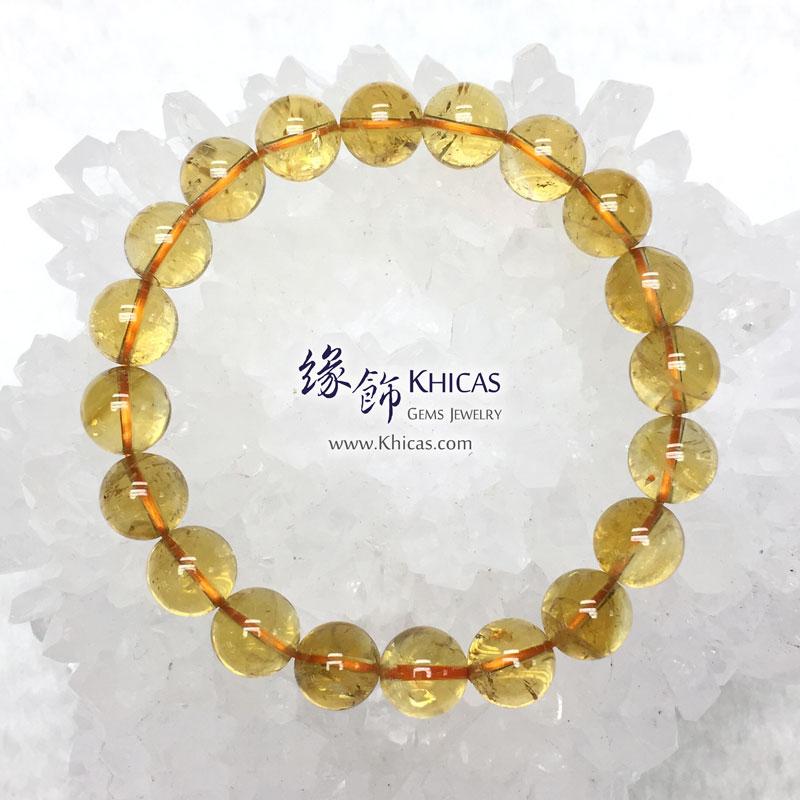 巴西 4A+ 黃水晶手串 10.5mm Citrine KH143468 @ Khicas Gems 緣飾