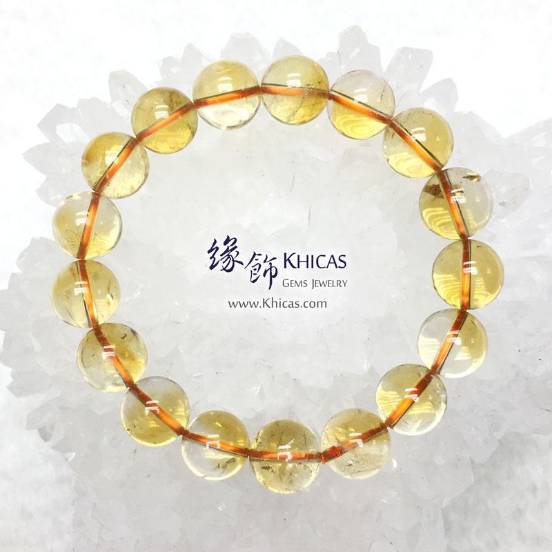 巴西 4A+ 黃水晶手串 12.5mm Citrine KH143470 @ Khicas Gems 緣飾