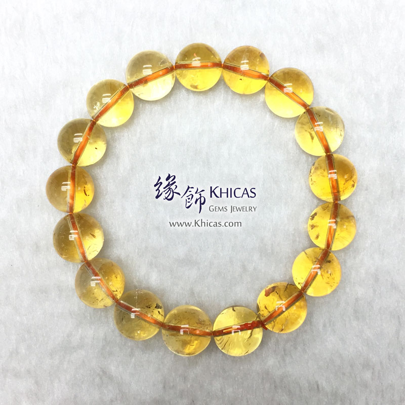 巴西 4A+ 黃水晶手串 12.5mm Citrine KH143471 @ Khicas Gems 緣飾