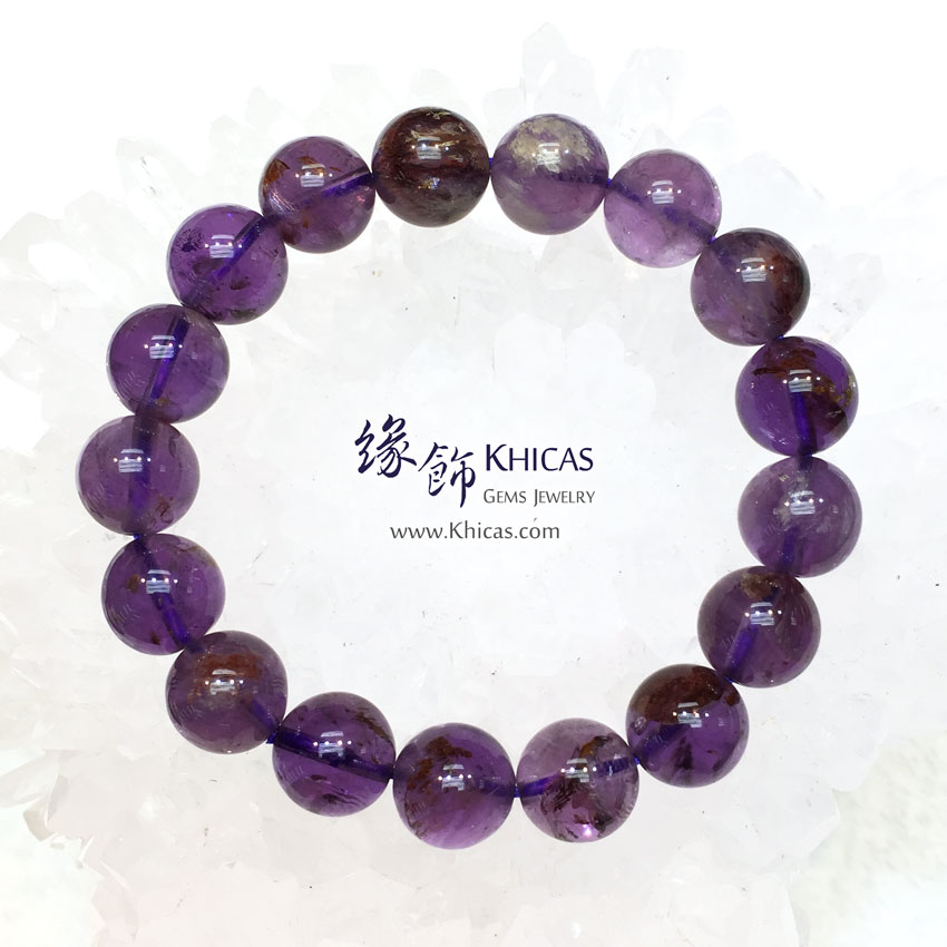 巴西 4A+ 紫水晶/幽靈共生手串 11.5mm Amethyst Phantom KH143598 @ Khicas Gems 緣飾
