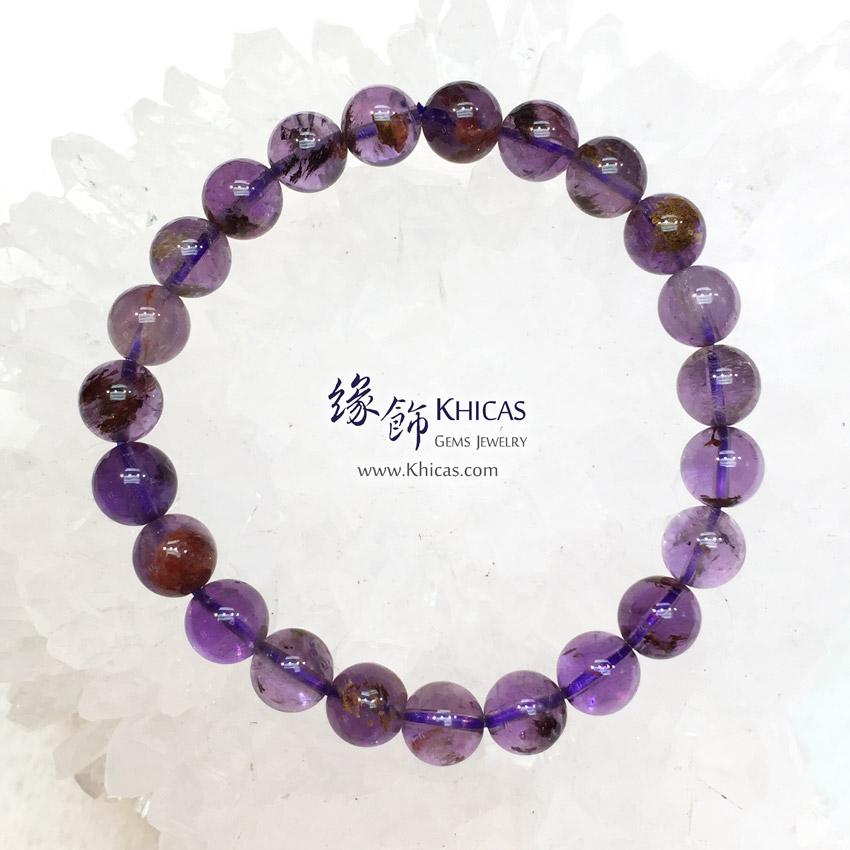 巴西 4A+ 紫水晶/幽靈共生手串 8.5mm Amethyst Phantom Bracelet KH143606 @ Khicas Gems Jewelry 緣飾天然水晶