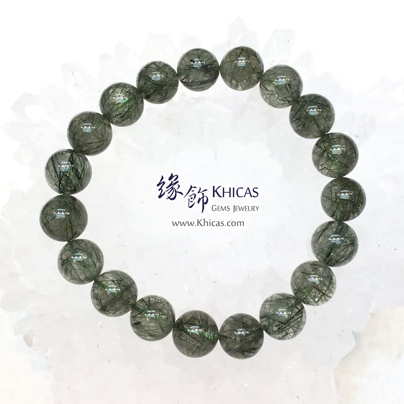 巴西 3A+ 綠髮晶手串 10mm Green Rutilated Quartz KH143607 Khicas Gems 緣飾