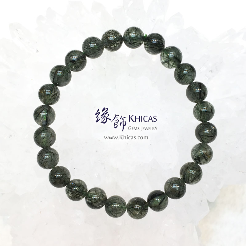 巴西 3A+ 綠髮晶手串 7.8mm Green Rutilated Quartz KH143610 Khicas Gems 緣飾