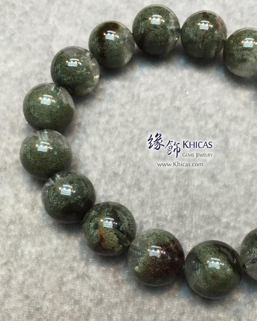 巴西 4A+ 綠幽靈手串 12.5mm Green Phantom Bracelet KH143621 @ Khicas Gems Jewelry 緣飾天然水晶