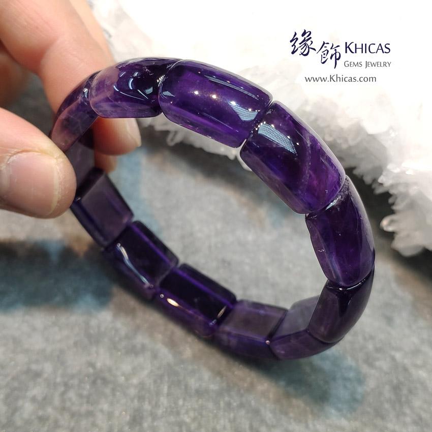 烏拉圭 4A+ 紫水晶手排 Amethyst Bracelet KH143622 @ Khicas Gems Jewelry 緣飾天然水晶
