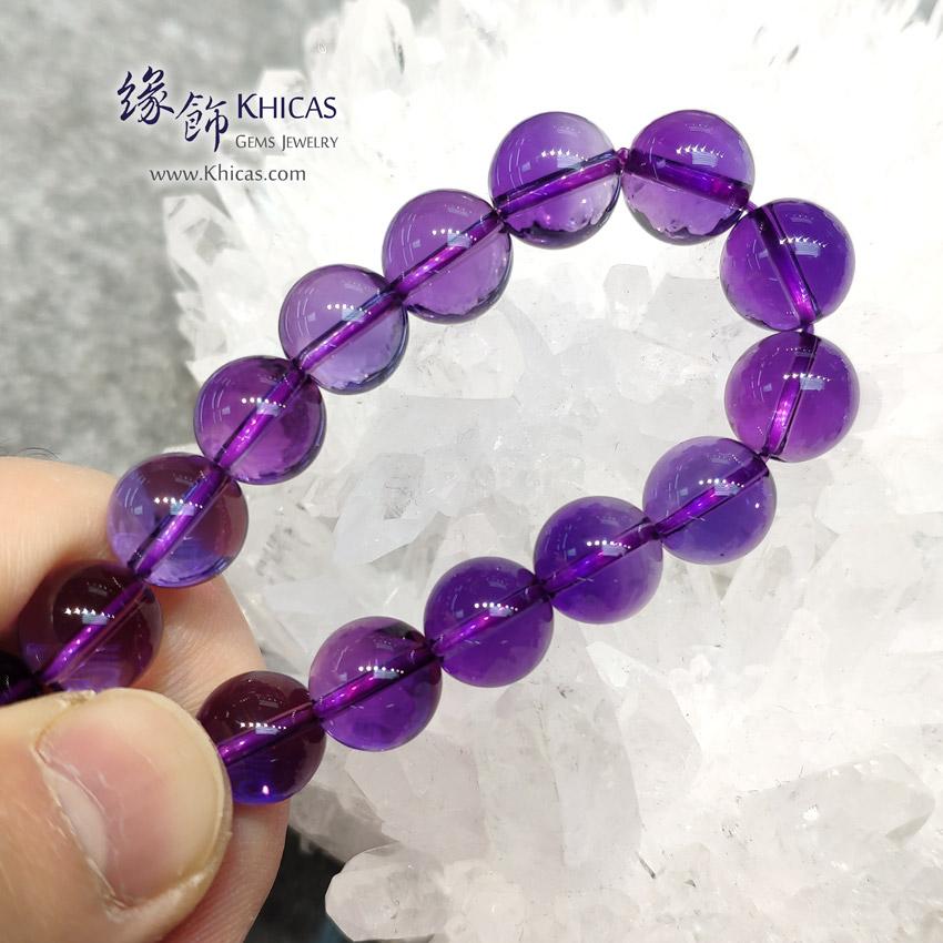 烏拉圭 5A+ 全清紫水晶手串 10mm Amethyst Bracelet KH143624 @ Khicas Gems Jewelry 緣飾天然水晶