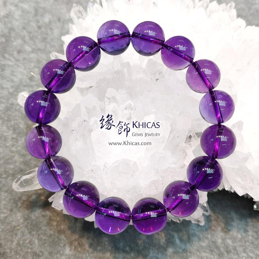 烏拉圭 5A+ 全清紫水晶手串 13mm Amethyst Bracelet KH143625 @ Khicas Gems Jewelry 緣飾天然水晶