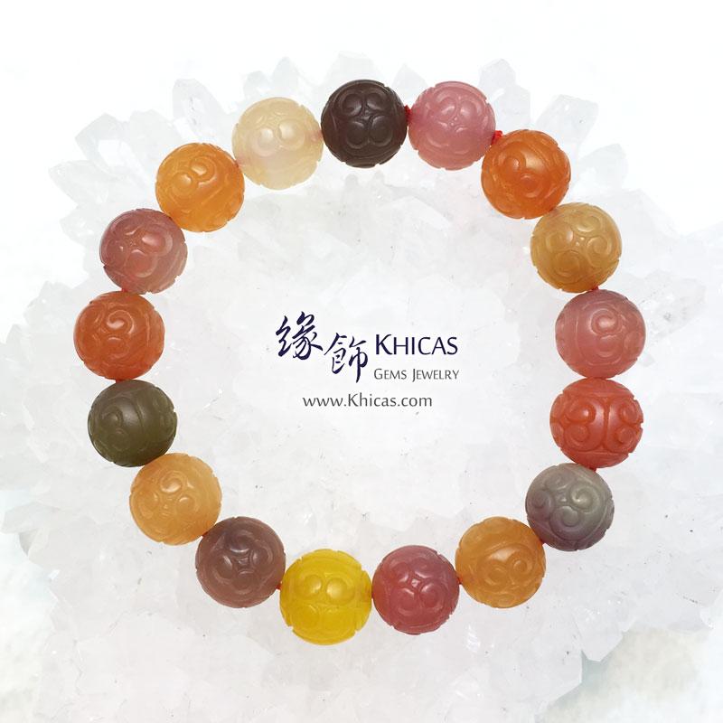 龍雕鹽源瑪瑙手串 11.5mm Red Agate KH143749 @ Khicas Gems 緣飾