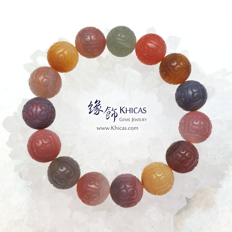 龍雕鹽源瑪瑙手串 14.5mm Red Agate KH143750-2 @ Khicas Gems 緣飾