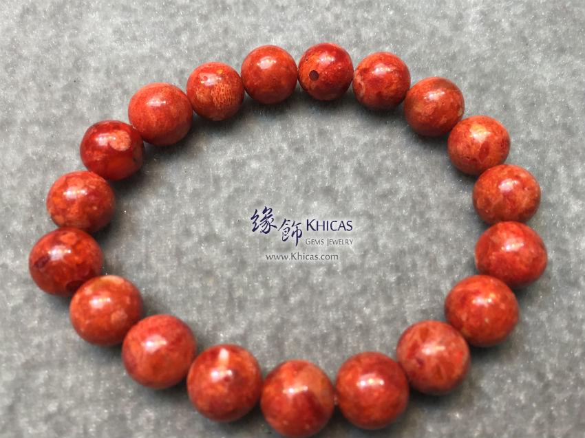 海南紅珊瑚手串 9.5mm Red Coral Bracelet KH143834 @ Khicas Gems 緣飾天然水晶