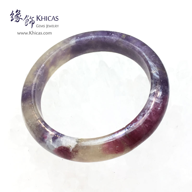 阿富汗 3A+ 紫紅碧璽福鐲(內徑 ⌀53.2mm / 1.43)Tourmaline Bangle KH143844 @ Khicas Gems 緣飾
