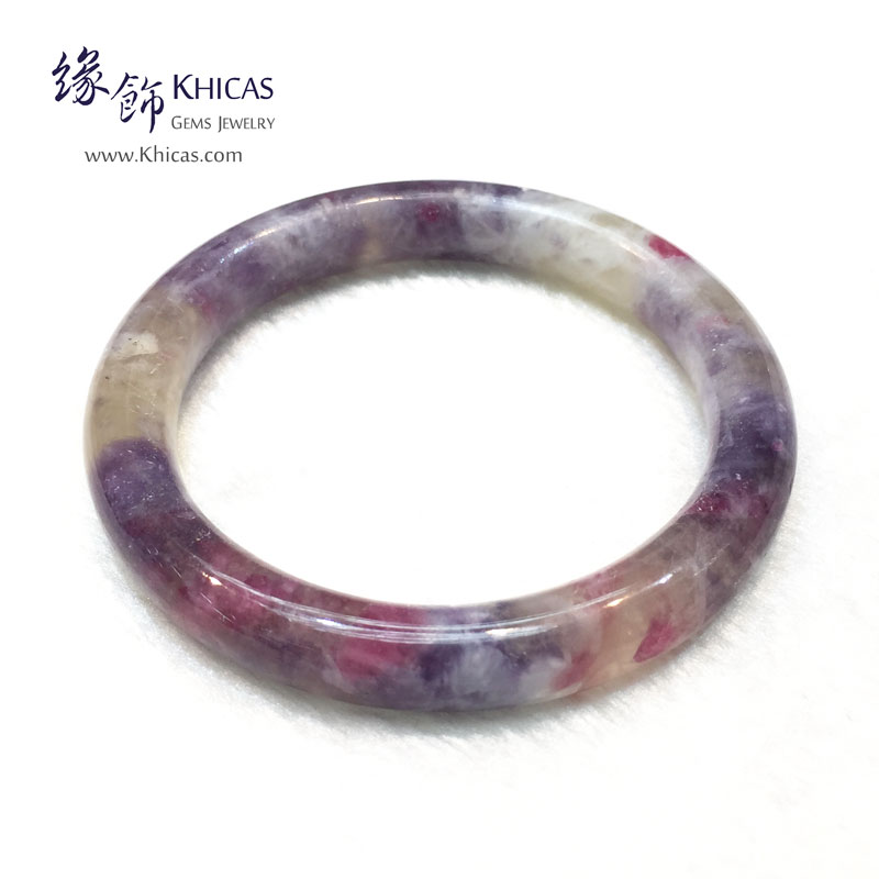 阿富汗 3A+ 紫紅碧璽福鐲(內徑 ⌀53.7mm / 1.44)Tourmaline Bangle KH143845 @ Khicas Gems 緣飾