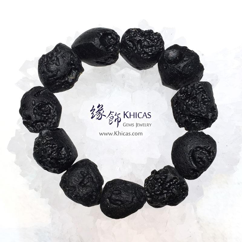 黑隕石原石手串 Tektite bracelet KH143855 @ Khicas Gems 緣飾