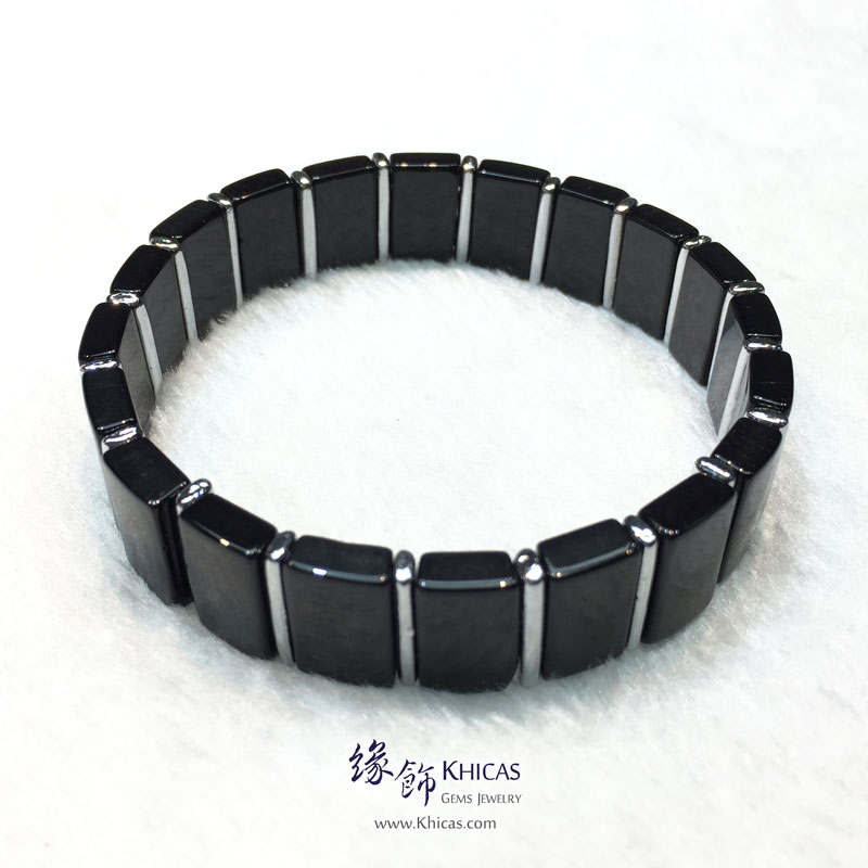 巴西黑碧璽間鈦片手排 9.5x15mm Black Tourmaline Bracelet KH143856 @ Khicas Gems 緣飾