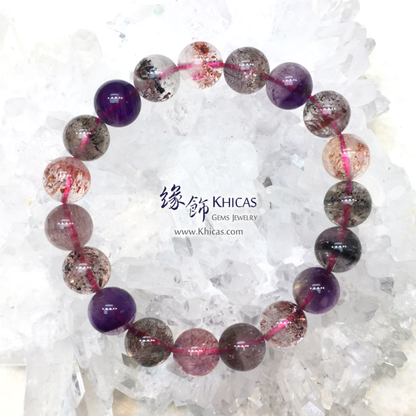 4A+ 巴西三輪骨幹 超級七 Super7 Super Seven 手串 10.5mm KH143873 @ Khicas Gems Jewelry 緣飾天然水晶