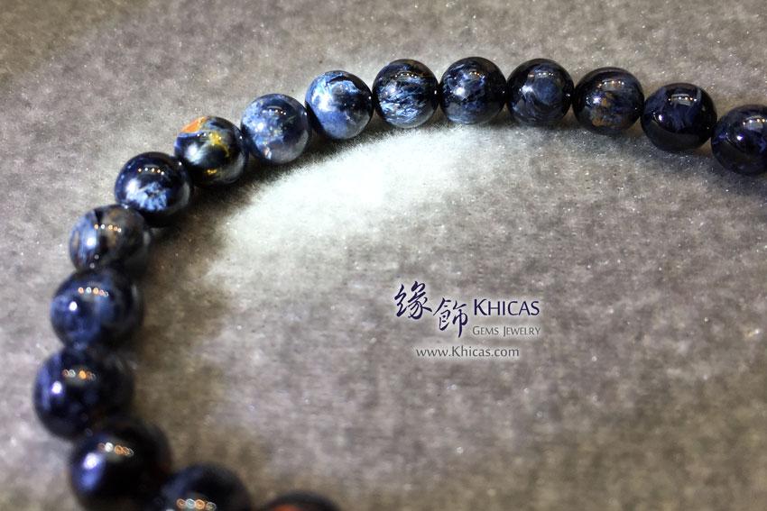 納米比亞 5A+ 貓眼藍色彼得石手串 7.3mm Pietersite KH143954 @ Khicas Gems 緣飾