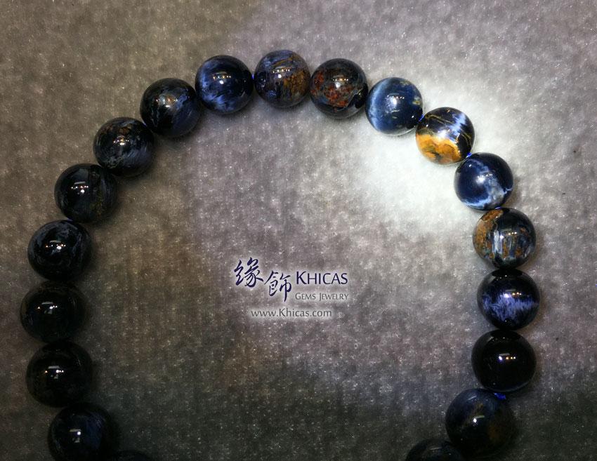 納米比亞 5A+ 貓眼藍色彼得石手串 8.5mm Pietersite KH143955 @ Khicas Gems 緣飾