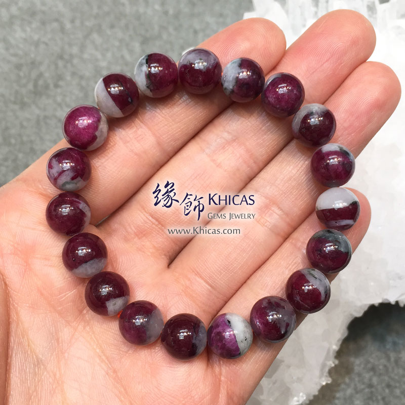 緬甸 4A+ 玉化紅寶石手串 10mm Ruby KH143971 @ Khicas Gems 緣飾