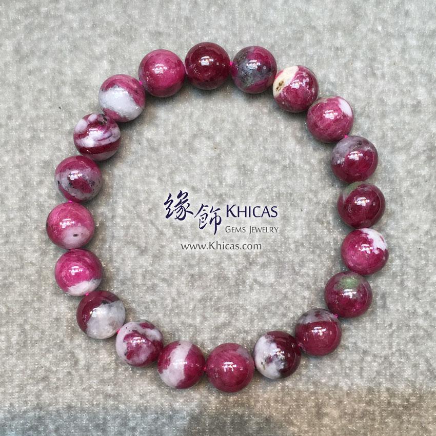 緬甸 4A+ 玉化紅寶石手串 10mm Ruby KH143971 @ Khicas Gems 緣飾