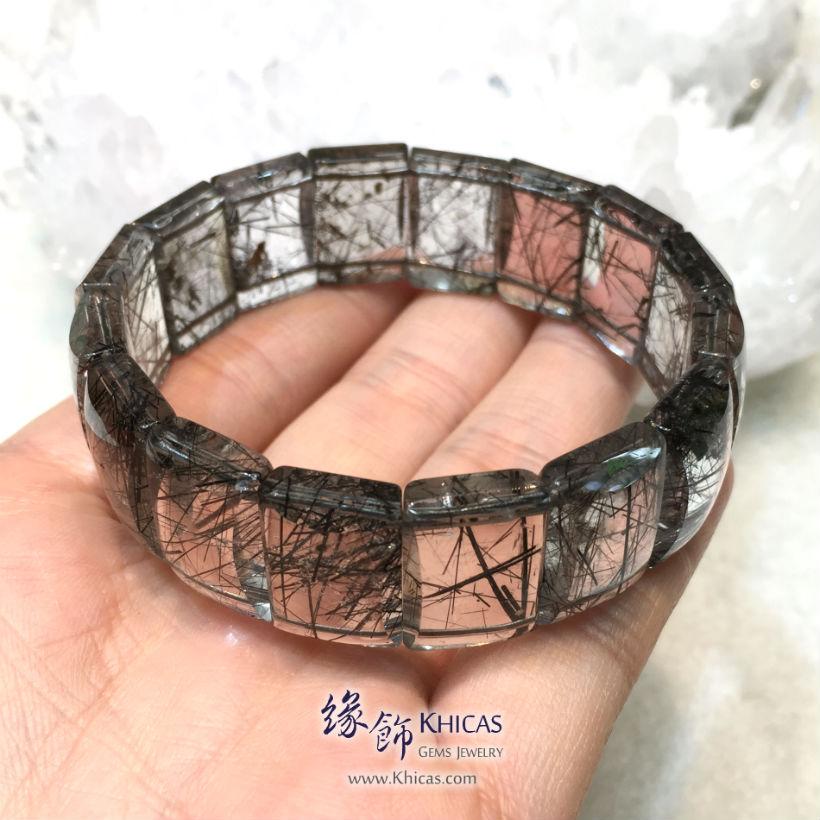 巴西 4A+ 黑髮晶手排 18x6mm Black Rutilated Quartz KH144042 @ Khicas Gems Jewelry 緣飾天然水晶