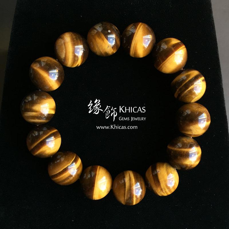 4A+ 南非黃虎眼石手串 14mm KH144082 @ Khicas Gems 緣飾