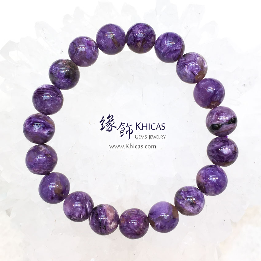 俄羅斯 4A+ 紫龍晶手串 10mm Charoite KH144161 @ Khicas Gems 緣飾