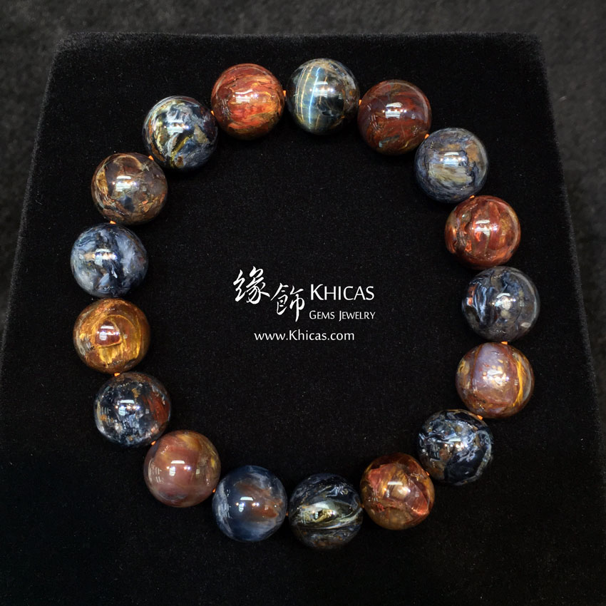 納米比亞 5A+ 藍金色彼得石手串 12mm Pietersite KH144173 @ Khicas Gems 緣飾