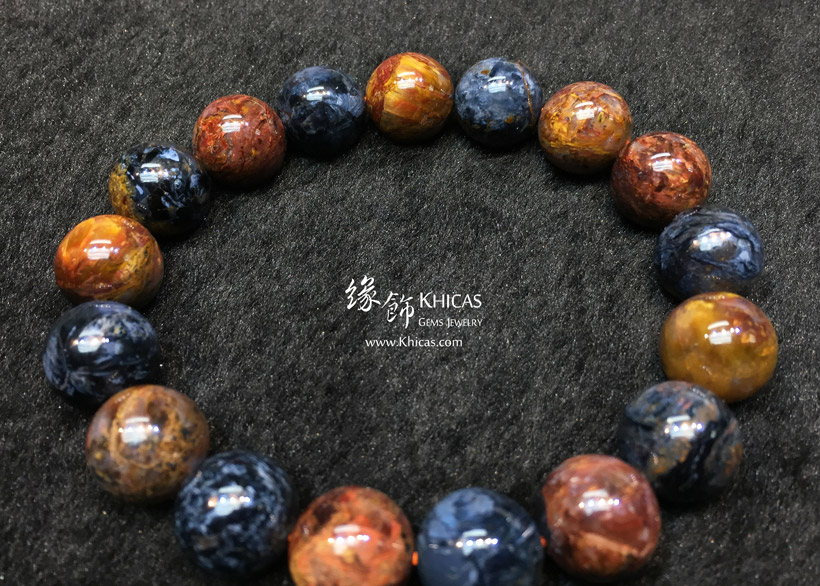 納米比亞 5A+ 藍金色彼得石手串 12mm Pietersite KH144176 @ Khicas Gems Jewelry 緣飾天然水晶