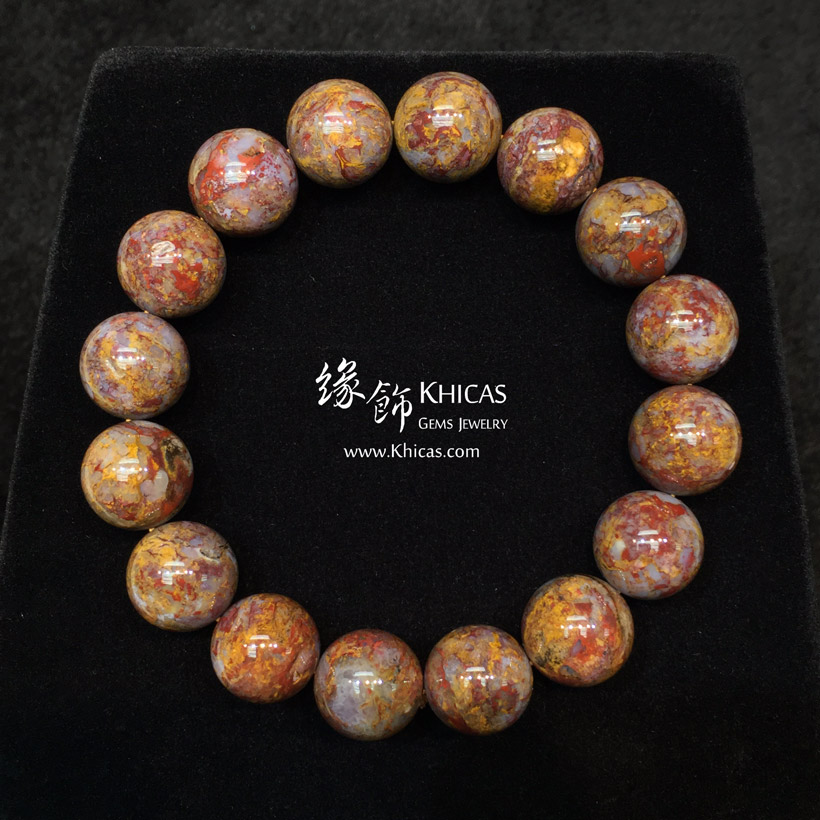 納米比亞 5A+ 金色彼得石手串 13mm Pietersite KH144177 @ Khicas Gems Jewelry 緣飾天然水晶