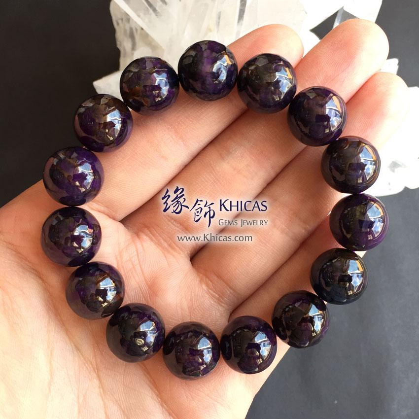 南非 4A+ 紫舒俱徠手串 14mm Sugilite KH144181 @ Khicas Gems 緣飾