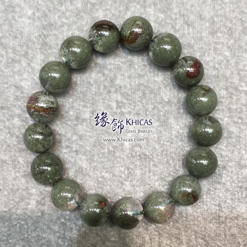 巴西 4A+ 滿綠/綠幽靈手串 12mm Green Phantom Bracelet KH144194 @ Khicas Gems Jewelry 緣飾天然水晶