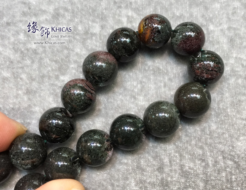 巴西 4A+ 滿綠/綠幽靈手串 11.8mm Green Phantom Bracelet KH144195 @ Khicas Gems Jewelry 緣飾天然水晶