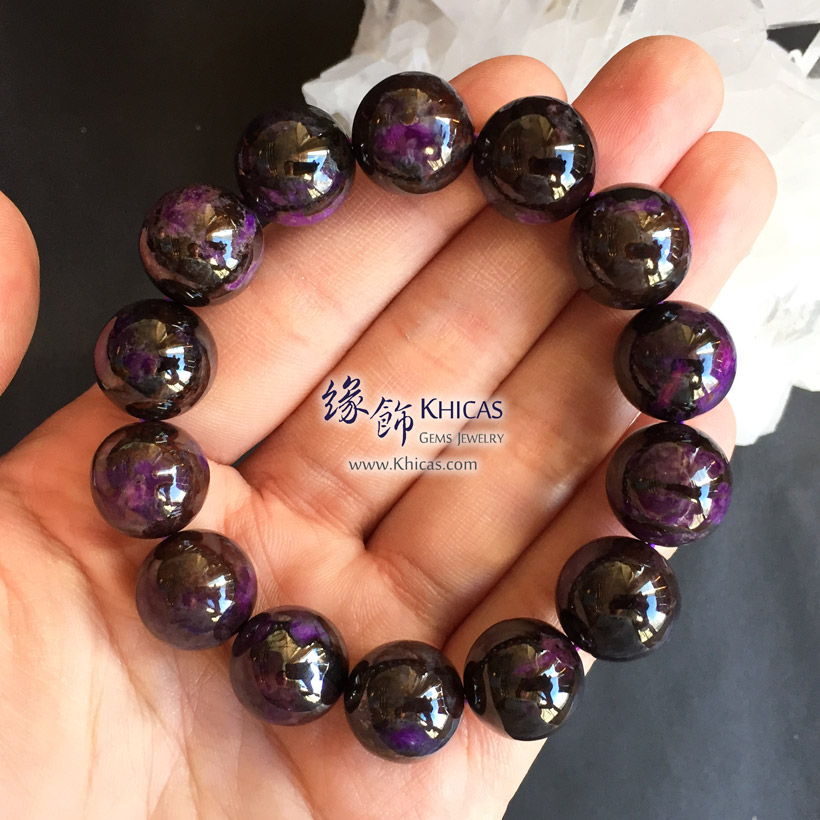 南非 4A+ 舒俱徠手串 15mm South Africa Sugilite Bracelet KH144203 @ Khicas Gems Jewelry 緣飾天然水晶